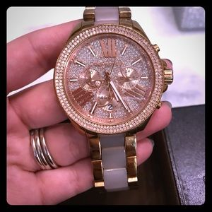Michael Kors women's rose gold Wren watch